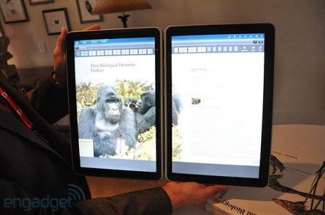 Tablet double écran de Kno à D8