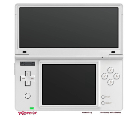 Nintendo 3DS To Have Large Upper 3D Display And 3D Camera?