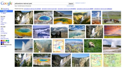 Google Images Search modernise son interface