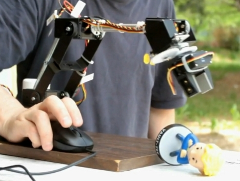 USB Mouse Controlled Manipulator Arm