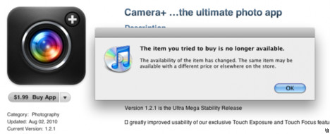 Camera+ app removed from App Store