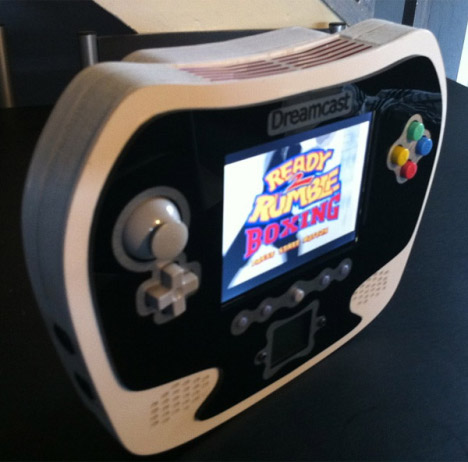 Console portable mod Techknott Dreamcast