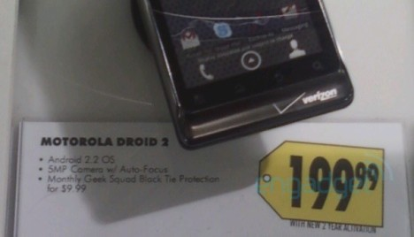 Motorola Droid 2 Priced At $199 AT Best Buy