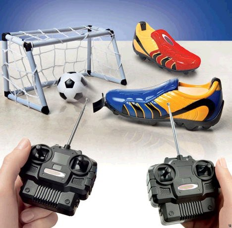 RC soccer boots are a definite hoot