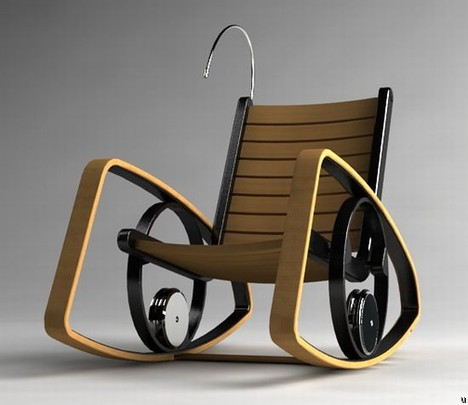 Rocking Chair turns kinetic energy into electrical power