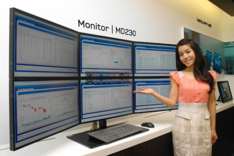Samsung propose jusqu'à 6 moniteurs SyncMaster MD Series