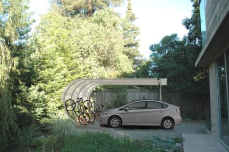 Car Arc Solar Shelter Gathers Energy For Electric Vehicles