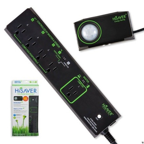 HiSAVER power strip helps save energy when you're not around