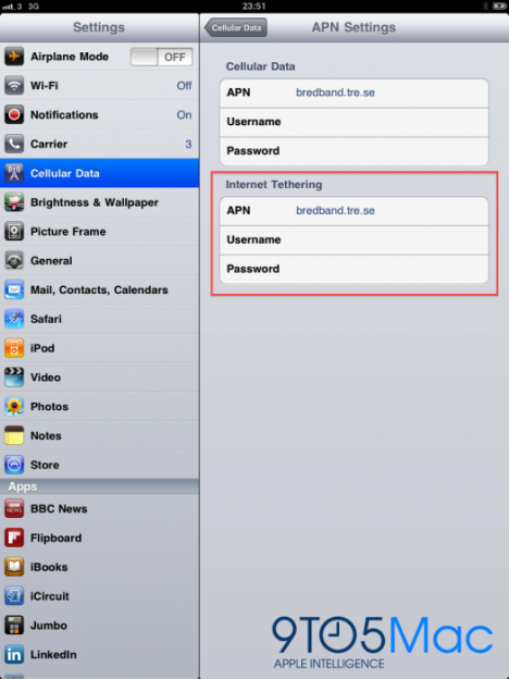 iOS 4.2 To Bring Internet Tethering To The iPad?