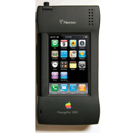 Etui mod Apple Newton pour l'iPhone