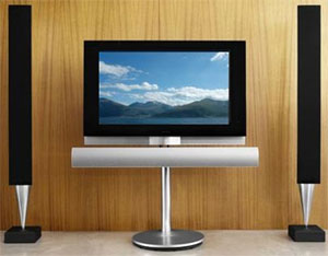 Bang & Olufsen widescreen LCD TV with integrated DVD player