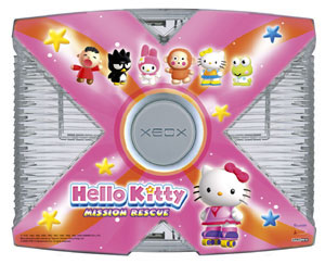 Hello Kitty Crystal XBox Console
