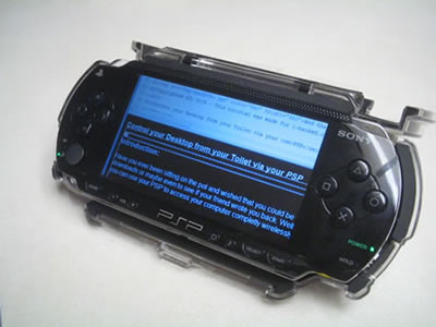 Achieve total control of your Desktop via your PSP