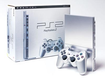 Sony Playstation 2 in Silver color - cool!